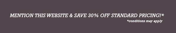 Mention this website and save 30% off standard pricing